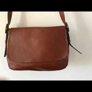 Fossil all leather Harper Saddle Crossbody